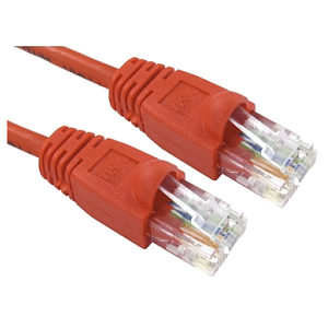 15m Ethernet Cable CAT6 Patch Cable UTP Red LSZH Low Smoke Full Copper