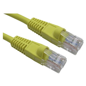 15m Ethernet Cable CAT6 Patch Cable UTP Yellow LSZH Low Smoke Full Copper