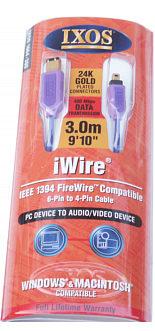 Ixos 1664-300 3.0m Firewire Cable 6-4 (iWire)