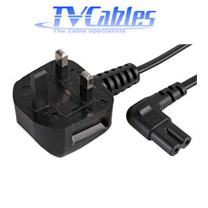 1m Angled Figure 8 Power Cord C7 90 Degree Lead