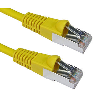 1m CAT6A Patch Cable Yellow 10GBase-T