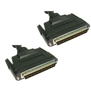 SCSI 3 Cable with Thumb Screws HP68 D Male to Male 1m
