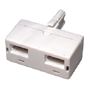2 Way Telephone Adapter Splitter