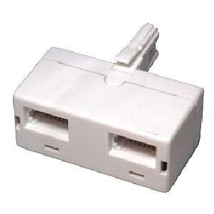2 Way Telephone Adapter Splitter