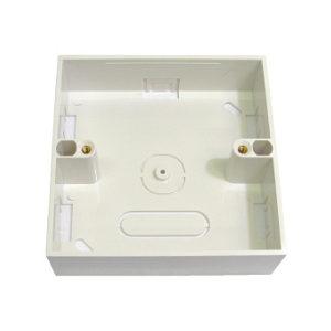 Single Back Box 27mm Patress Box, Surface Mount