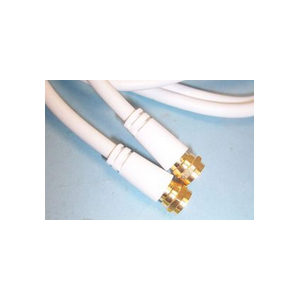 10m White Satellite Cable F-Type Sky Virgin Freesat