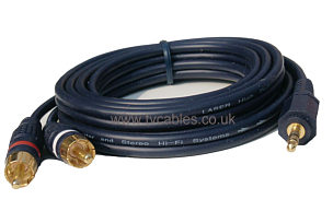 3.5mm Jack to 2x Phono Cable - 2m