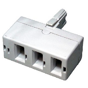 3 Way Telephone Adapter Splitter