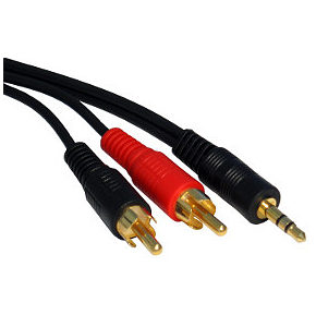 3.5mm Jack Plug to Phono Cable 10m Premium