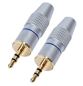 3.5mm Stereo Jack Plug HQ Gold Plated Metal Body 2 Pack
