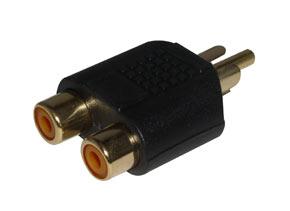 RCA / Phono Male to 2 x RCA/Phono Female Adapter