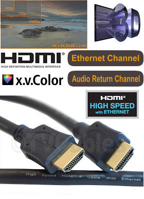 3m Hdmi Cable High Speed with Ethernet Channel OFC