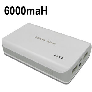 USB Power Pack 6000maH Dual Output 2A / 1A
