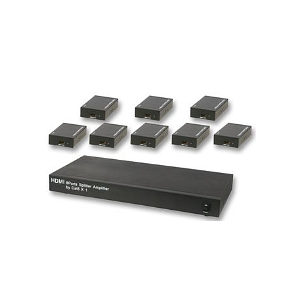 8 Way HDMI CAT5 Splitter Kit with 8 Receivers