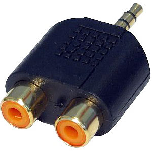 2x Phono to 3.5mm Jack Adapter