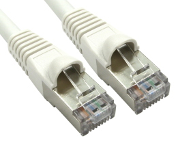 CAT6A Ethernet Cable 10m White - Full Copper Shielded FTP
