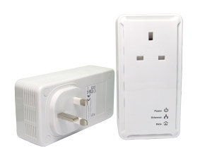 200Mbps Pass Through Homeplug Twin Pack