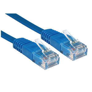 1M Cat5e Flat Network Cable Blue