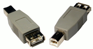 USB 2.0 Gender Changer A Female B Male