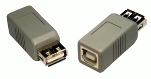 USB 2.0 Gender Changer A Female B Female