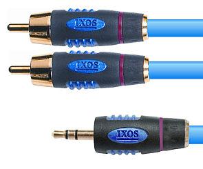 Ixos XHA205-150 Studio 1.5m 3.5mm Jack Plug to 2x Phono Cable