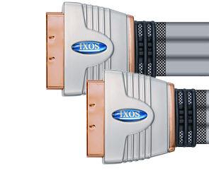 IXOS XHT611-150 1.5m Flat Profile Scart to Scart Lead