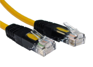 2m CAT5e Crossover Network Cable Full Copper yellow