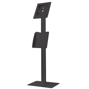 iPad Anti-Theft Floor Standing Kiosk Mount Black