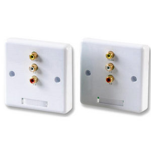 AV CAT5 Wallplate System (pair)