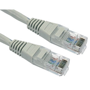 CAT5e Ethernet Cable 0.5m Grey UTP Stranded Full Copper