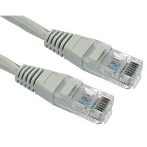 CAT5e Ethernet Cable 10m Grey UTP Stranded Full Copper
