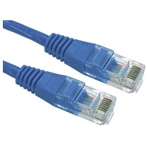CAT5e Ethernet Cable 3m Blue UTP Stranded Full Copper