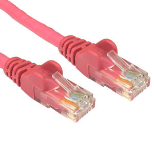 Cat5e Network Ethernet Patch Cable PINK 0.5m