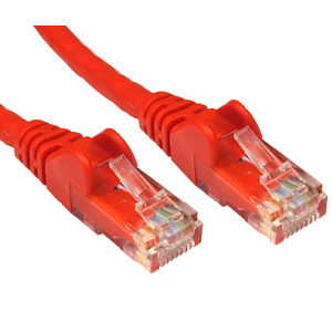 Cat5e Network Ethernet Patch Cable RED 0.25m
