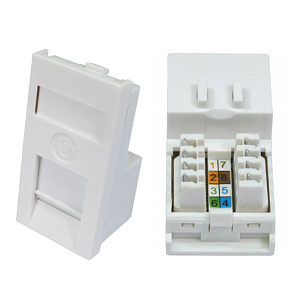 CAT6 Ethernet Faceplate Module Euromod Wall Plate Module
