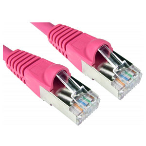 1m CAT6A Ethernet Cable Pink - 10/100/1000mbps & 10Gbps pink