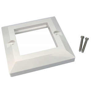 Dual Port Faceplate Frame for Euromod Wall Plate Modules