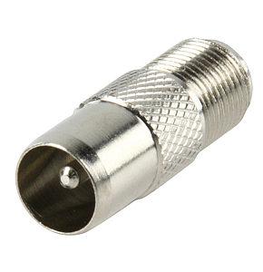 F Socket to Coax Plug F Type to Coax Adapter