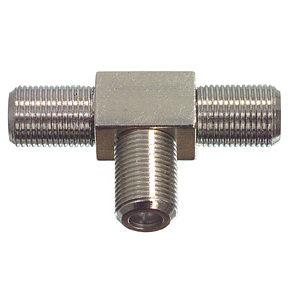 F-Type T-Piece F socket to 2 x F Socket