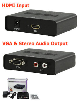 Konig HDMI to VGA Converter - HD15 + Audio