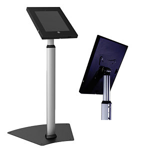 Anti Theft iPad Lecturn Height Adjustable Floor Stand