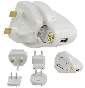Ipod USB Travel Charger UK Europe Australia USA