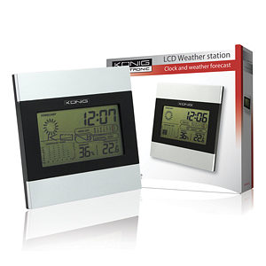 Konig LCD Weather Station Alarm Clock