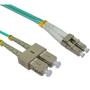 LC - SC 50/125 OM3 Fibre Optic Patch Cable 3m
