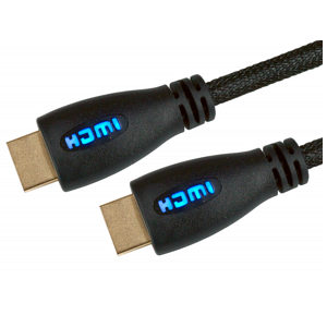 Light Up HDMI Cable 1m Blue - 1080p 4k 3D ARC