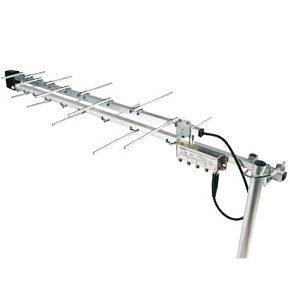 Digital Aerial UHF TV Megaboost Built In 4 way Booster Amplifier 27879D
