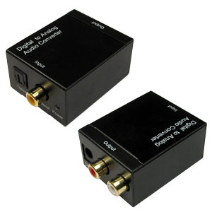 Optical to Phono Audio Converter Optical and Coax to 2x RCA
