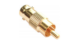 BNC to Phono Adapter - Gold Plated 3 Pack