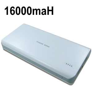 Portable USB Charger Dual Output 2A / 1A 16000maH