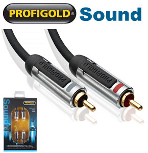 Profigold PROA4205 5m 2x RCA Phono Stereo Audio Cable